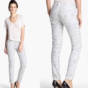 Current/Elliott Ankle Skinny Crochet Jeans